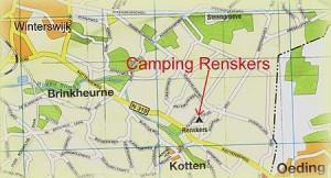 routebeschrijving naar camping Renskers Winterswijk